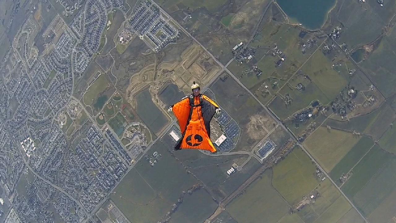 Backflying a Wingsuit