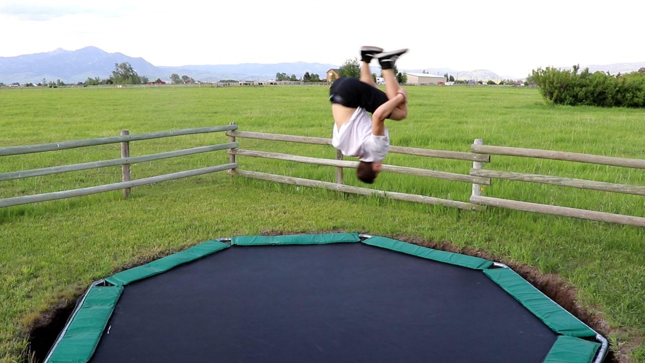 Backflip on a Trampoline