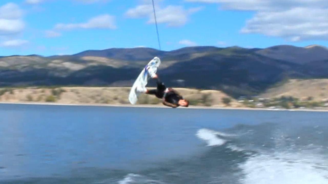 Front Roll on a Wakeboard