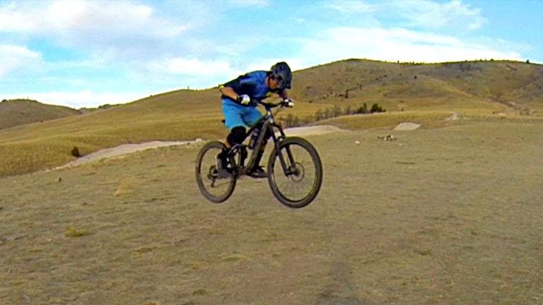 English Bunny Hop on a Mountain Bike