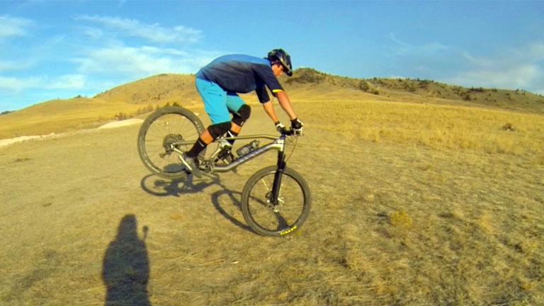 Stoppie on a Mountain Bike