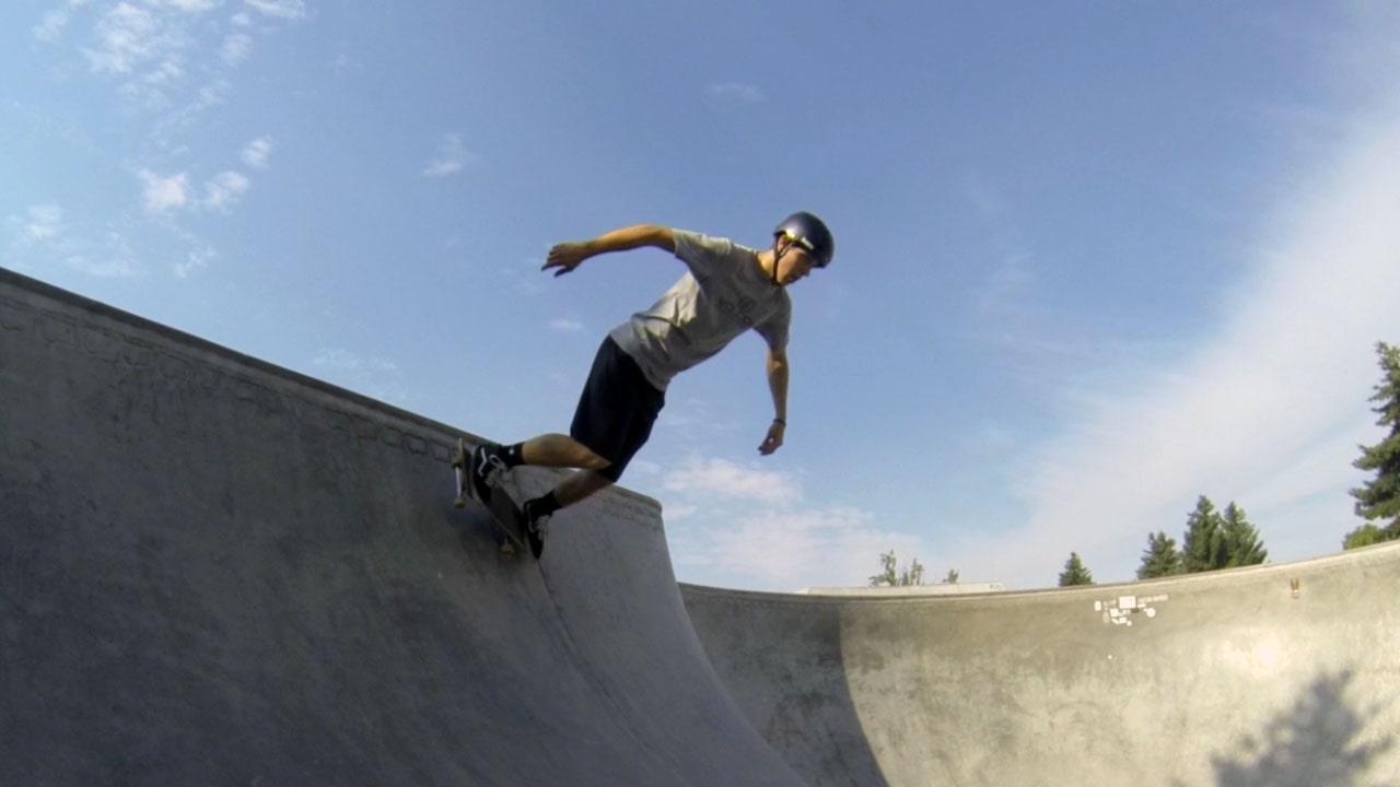 Backside Kickturn on a Skateboard