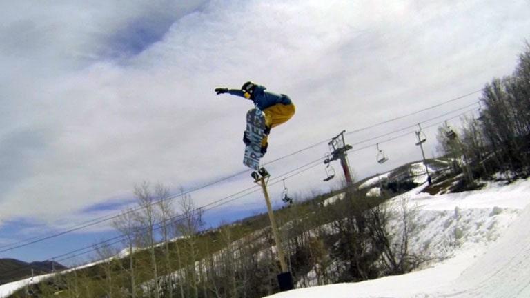 Straight Air on a Snowboard