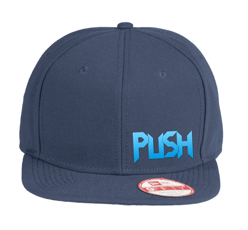 PUSH Flat Bill Snapback Hat